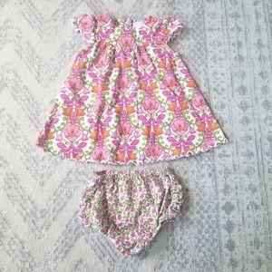 Vera Bradley baby girl 6-9 month dress & cover